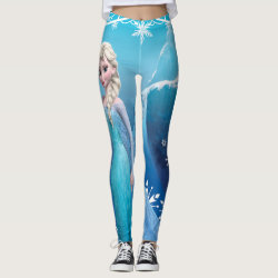 Leggings with Frozen's Princess Elsa of Arendelle design