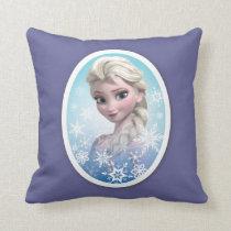 Elsa | Snowflake Frame Throw Pillow