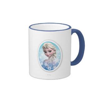 Elsa Snowlake Frame Ringer Coffee Mug