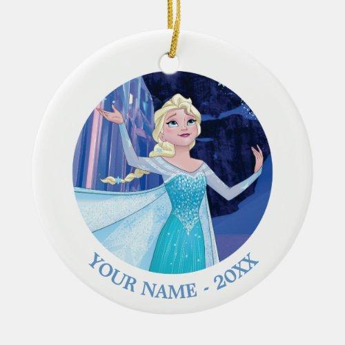 Elsa | Sparkling, Elegant Ice Ceramic Ornament