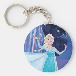 Elsa - Sparkling, Elegant Ice Basic Round Button Keychain