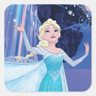 Elsa - Sparkling, Elegant Ice Square Sticker