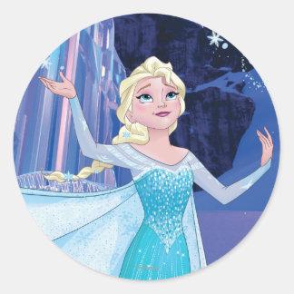 Elsa - Sparkling, Elegant Ice Classic Round Sticker