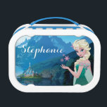 """Elsa   Summer Wish Lunch Box<br><div class=""""desc"""">Frozen Fever - Elsa   Check out this customizable Elsa design! Personalize your own Frozen merchandise on Zazzle.com! Click the Customize button to insert your own name or text to make a unique product. Try adding text using various fonts &amp; view a preview of your design! Zazzle&#39;s easy to customize...</div>"""
