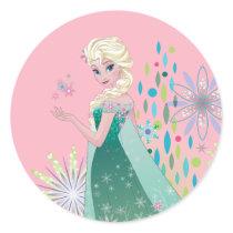 Elsa | Summer Wish with Flowers Classic Round Sticker
