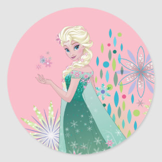 Elsa | Summer Wish with Flowers Classic Round Sticker