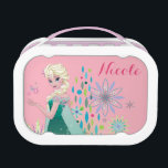 """Elsa   Summer Wish with Flowers Lunch Box<br><div class=""""desc"""">Frozen Fever - Elsa   Check out this customizable Elsa design! Personalize your own Frozen merchandise on Zazzle.com! Click the Customize button to insert your own name or text to make a unique product. Try adding text using various fonts &amp; view a preview of your design! Zazzle&#39;s easy to customize...</div>"""