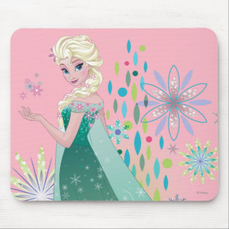 Elsa | Summer Wish with Flowers Mouse Pad