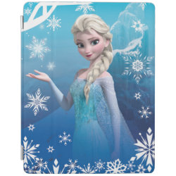 iPad 2/3/4 Cover with Frozen's Princess Elsa of Arendelle design