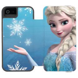 Incipio Watson™ iPhone 5/5s Wallet Case with Frozen's Princess Elsa of Arendelle design