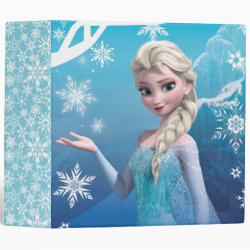 Avery Signature 1' Binder with Frozen's Princess Elsa of Arendelle design