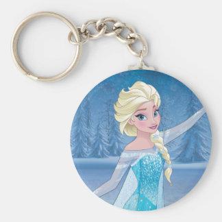 Elsa - Winter Magic Basic Round Button Keychain