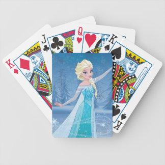 Elsa   Winter Magic Bicycle Playing Cards
