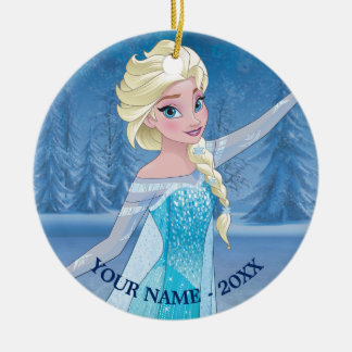 Elsa - Winter Magic Double-Sided Ceramic Round Christmas Ornament