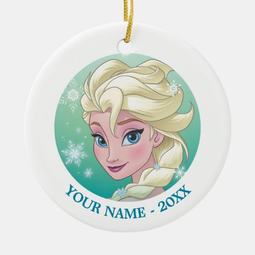 Elsa | Winter Portrait Ceramic Ornament