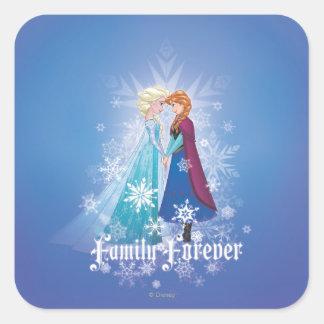 Elsa y Ana - familia para siempre Pegatina Cuadrada