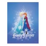 Elsa y Ana - familia para siempre Postal