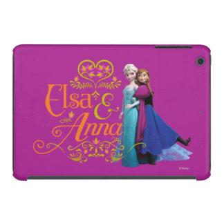 Elsa y Ana que se colocan de nuevo a la parte post Funda De iPad Mini