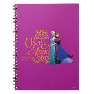 Elsa y Ana que se colocan de nuevo a la parte post Cuadernos