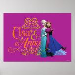 Elsa y Ana que se colocan de nuevo a la parte post Impresiones