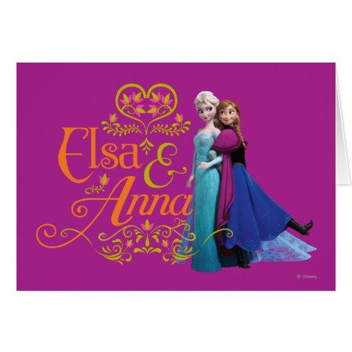 Elsa y Ana que se colocan de nuevo a la parte post Tarjeta De Felicitación