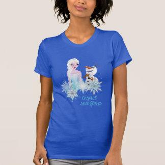 Elsa y Olaf - copos de nieve cristalinos Camiseta