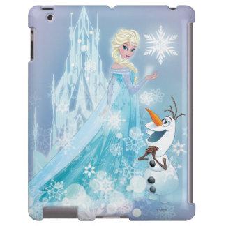 Elsa y Olaf - resplandor helado Funda Para iPad
