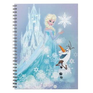 Elsa y Olaf - resplandor helado Libreta Espiral
