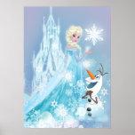 Elsa y Olaf - resplandor helado Poster