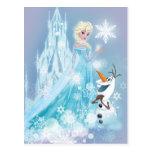 Elsa y Olaf - resplandor helado Tarjeta Postal