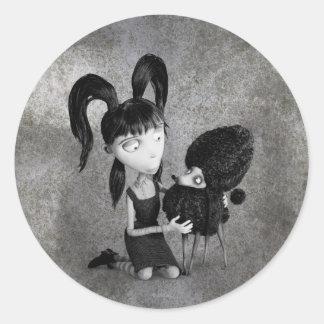 Elsa y Persephone Pegatina Redonda