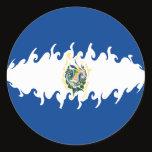 ElSalvador Gnarly Flag Classic Round Sticker