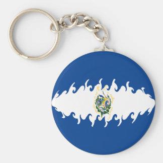 ElSalvador Gnarly Flag Basic Round Button Keychain