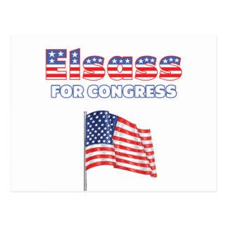 Elsass for Congress Patriotic American Flag Postcard