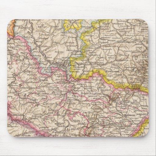 ElsassLothringen, mapa del atlas de Bayerische Pal Alfombrillas De Ratones