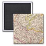 ElsassLothringen, mapa del atlas de Bayerische Pal Imán Cuadrado