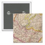 ElsassLothringen, mapa del atlas de Bayerische Pal Pin Cuadrado
