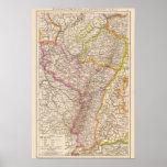 ElsassLothringen, mapa del atlas de Bayerische Pal Póster