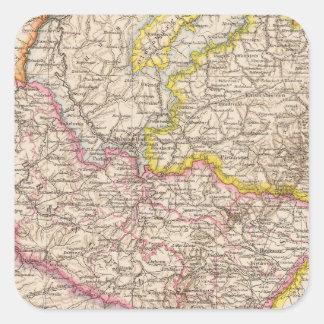 ElsassLothringen, mapa del atlas de Bayerische Pegatinas Cuadradases