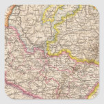 ElsassLothringen, mapa del atlas de Bayerische Pegatina Cuadrada