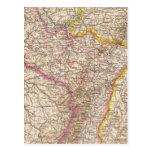 ElsassLothringen, mapa del atlas de Bayerische Tarjetas Postales