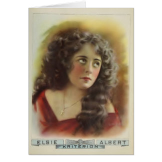 Elsie Albert 1915 silent movie exhibitor ad Card