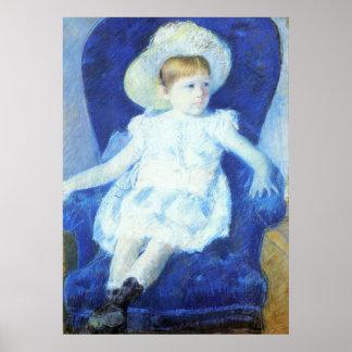 Elsie en una silla azul, Mary Cassatt Póster
