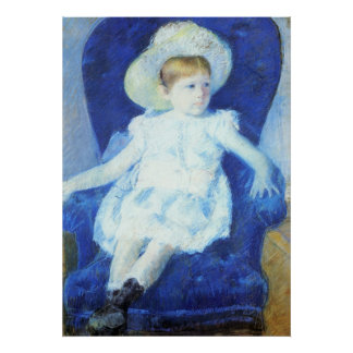 Elsie in A Blue Chair, Mary Cassatt Posters
