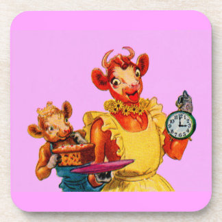 Elsie the Cow and daughter Beulah - It's Cake Time Coaster