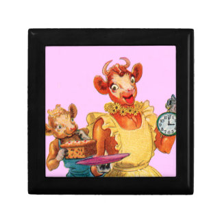 Elsie the Cow and daughter Beulah - It's Cake Time Keepsake Box