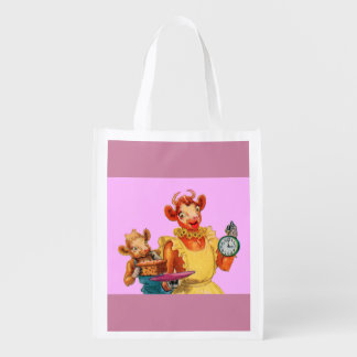 Elsie the Cow and daughter Beulah - It's Cake Time Market Tote
