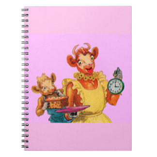 Elsie the Cow and daughter Beulah - It's Cake Time Notebook