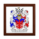 Elson Coat of Arms Jewelry Box
