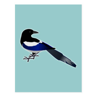 Elster Magpie Post Card